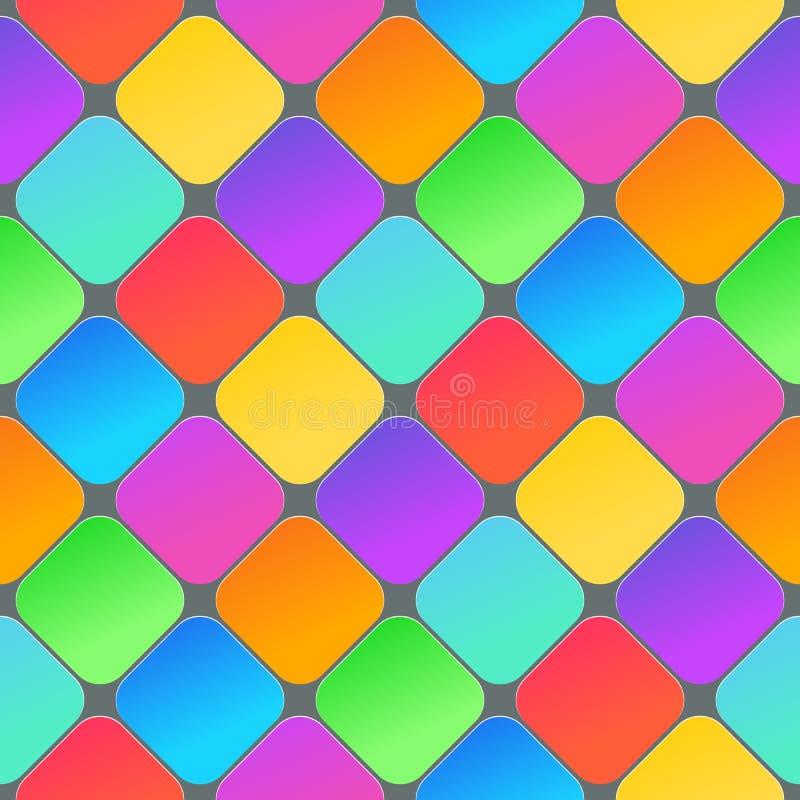 Fond 3D géométrique abstrait Texture sans couture colorée avec l'ombre Texture propre simple de fond vecteur 3d illustration stock