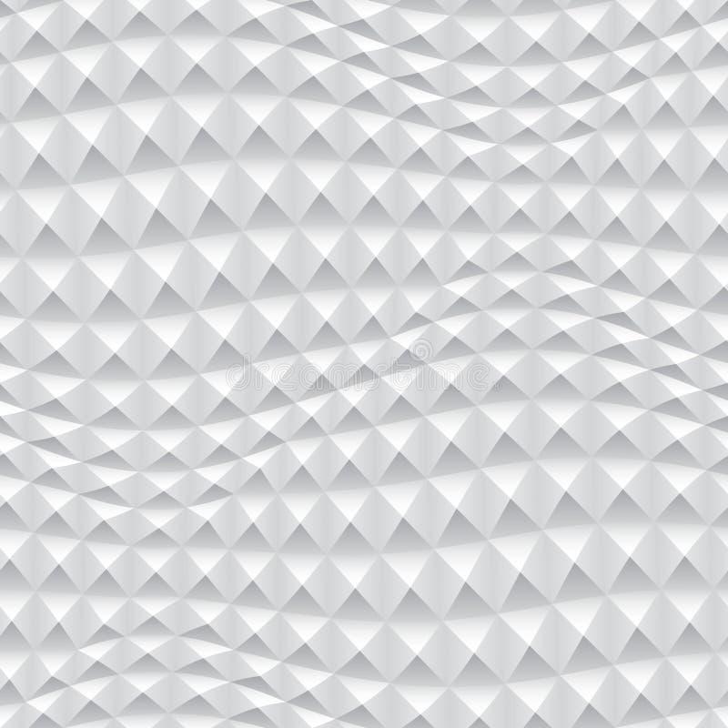Fond 3d géométrique blanc abstrait illustration stock
