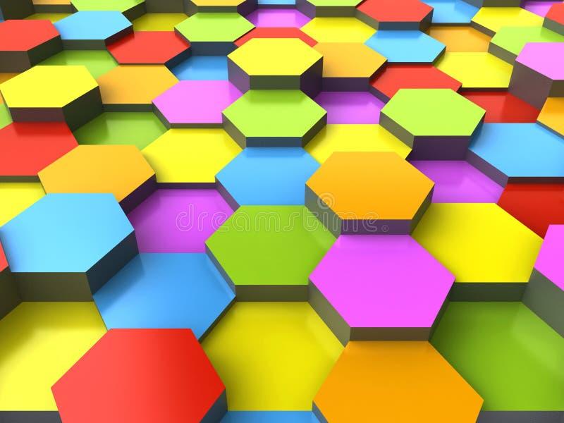 fond 3d hexagonal illustration libre de droits