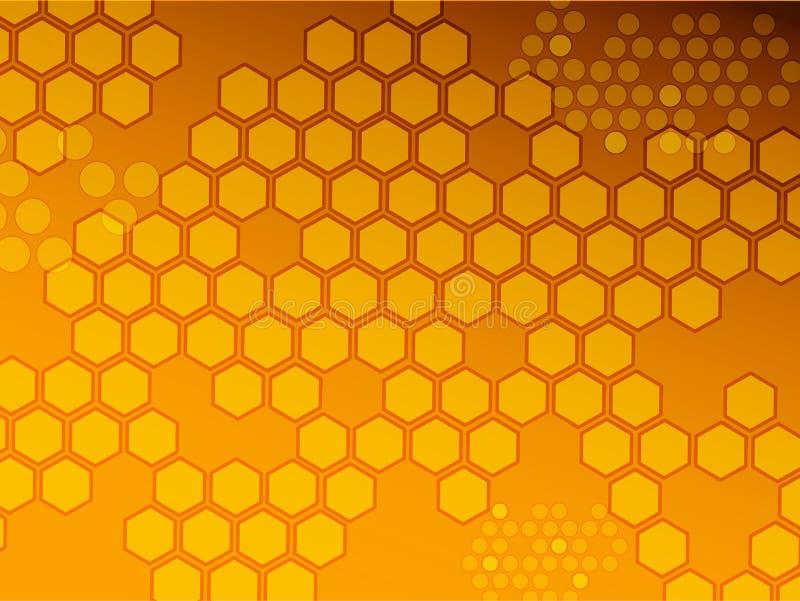 Fond d'hexagone illustration stock