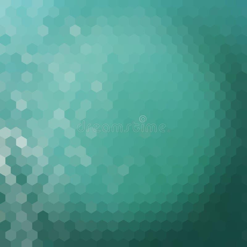 Fond d'hexagone de l'eau illustration de vecteur
