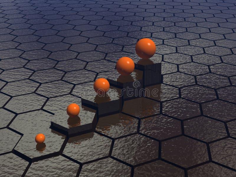 Fond d'hexagones illustration libre de droits