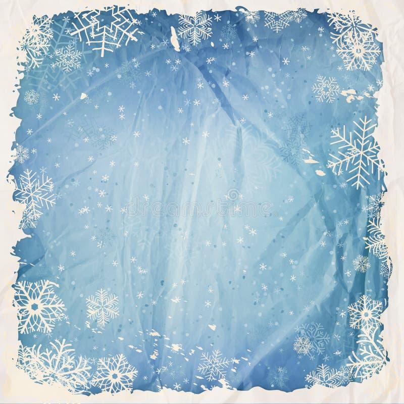Fond d'hiver illustration de vecteur