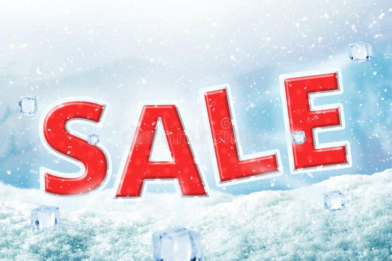 Fond d'hiver avec la chute de neige Joyeux Noël et fond heureux d'affiche de vente d'hiver Bannière de Noël pour la remise votre  photos libres de droits