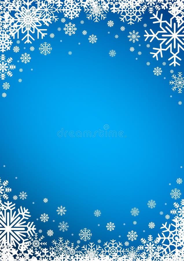 Fond d'hiver de flocons de neige illustration libre de droits