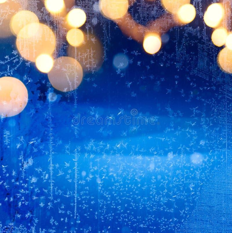 Fond d'hiver de Noël d'art ; paysage neigeux image libre de droits