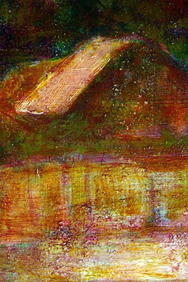 Fond d'horizontal de couleur à l'huile illustration stock