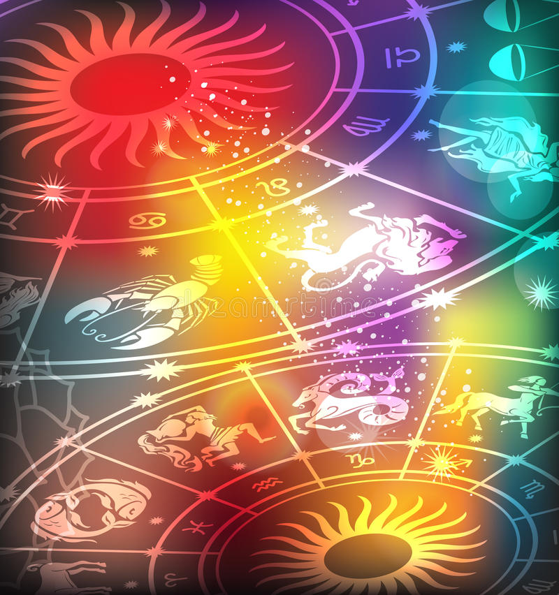 Fond d'horoscope illustration de vecteur