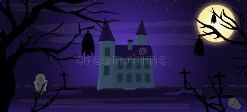 Fond d'horreur de Halloween illustration stock