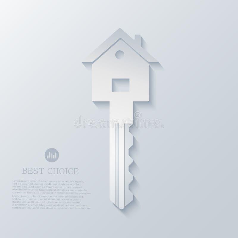 Fond d'icône d'immobiliers de vecteur. Eps10 illustration libre de droits