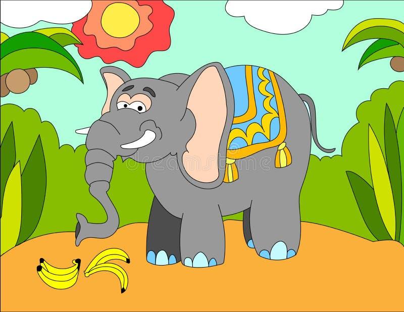 Download Fond D'illustration Colorée D'un éléphant Illustration Stock - Illustration du artistique, retrait: 87700007