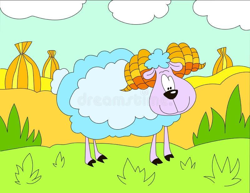 Download Fond D'illustration Colorée D'un Mouton Laineux Illustration Stock - Illustration du couleurs, noir: 87700117