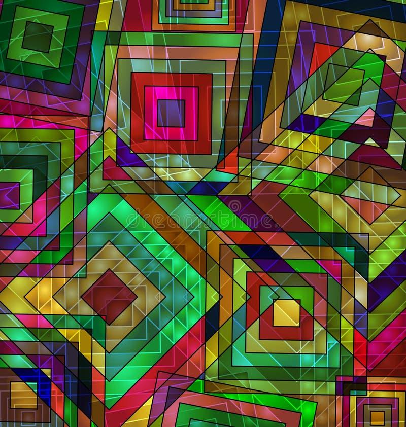 Fond d'image coloré de la place abstraite de chaos illustration stock