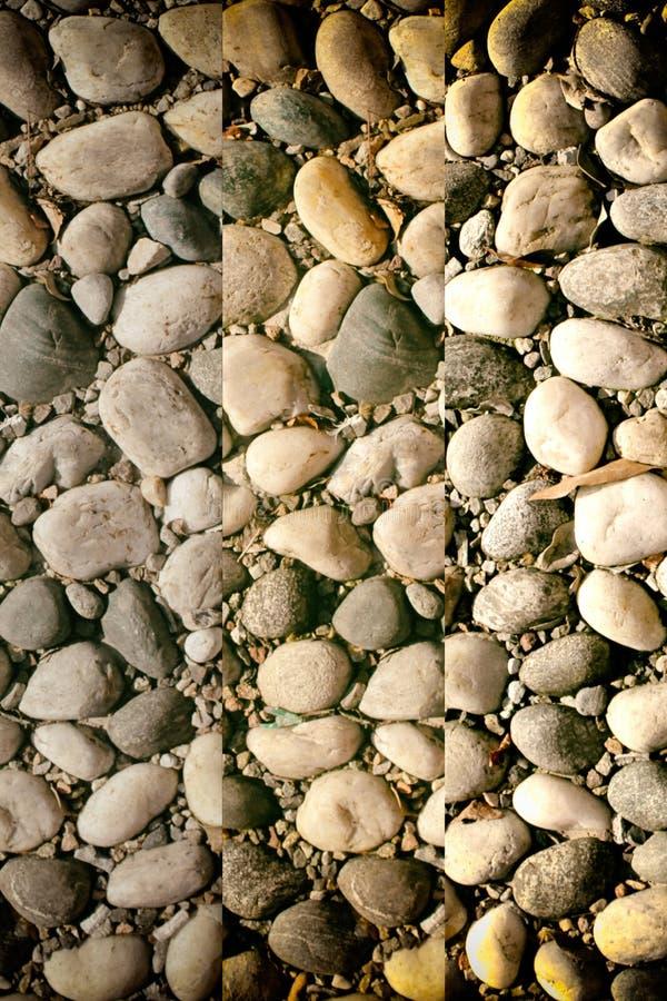 Fond d'image gentil des cailloux, texture ronde de roches image stock