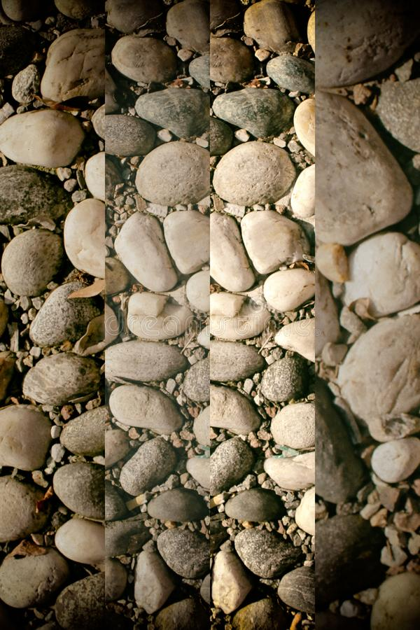 Fond d'image gentil des cailloux, texture ronde de roches images libres de droits