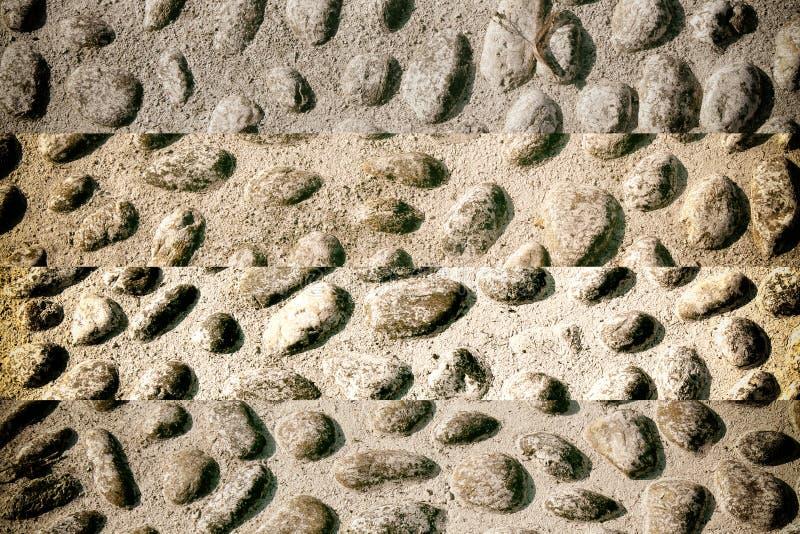 Fond d'image gentil des cailloux, texture ronde de roches photo libre de droits