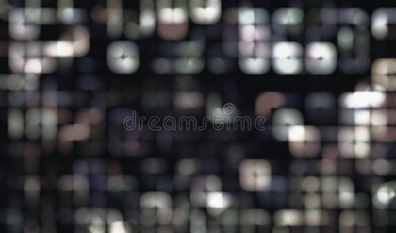 Fond d'image monochromatique abstrait de recouvrement de bokeh image stock