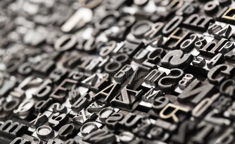 Fond d'impression typographique photos libres de droits