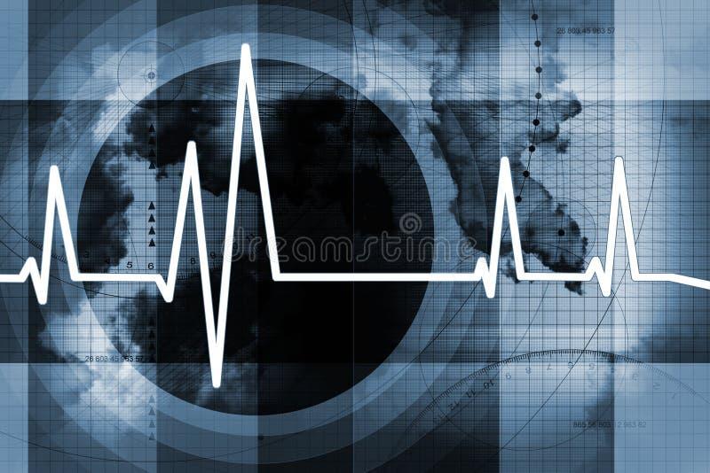Fond d'impulsion de coeur illustration de vecteur