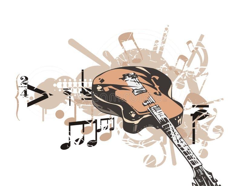 Fond d'instrument de musique illustration de vecteur