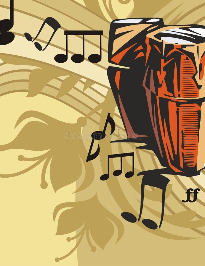Fond d'instrument de musique illustration stock