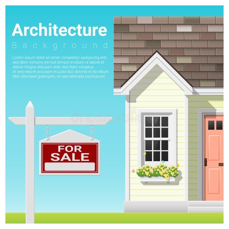 Fond d'investissement immobilier avec la maison à vendre illustration libre de droits