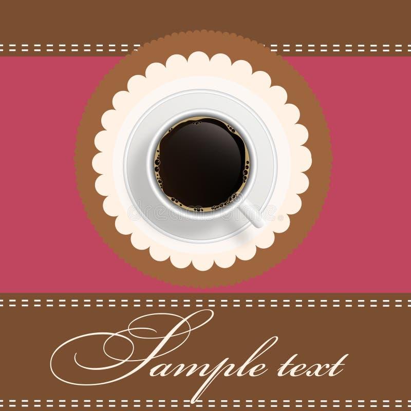 Fond d'invitation de café illustration de vecteur