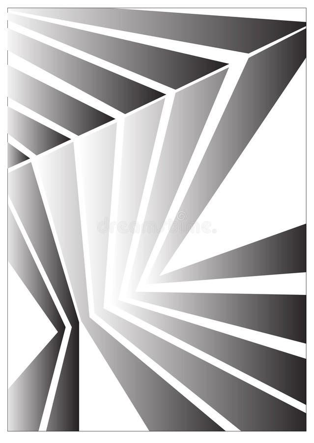 Fond d'isolement par réflexion abstraite Illustration de vecteur illustration de vecteur