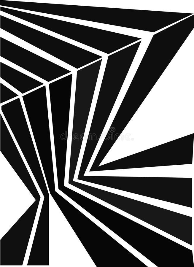 Fond d'isolement par réflexion abstraite Illustration de vecteur illustration stock