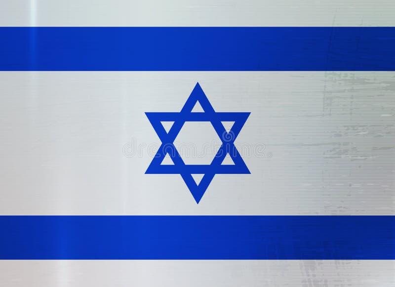 Fond d'Israel Flag Metallic Texture Abstract illustration libre de droits