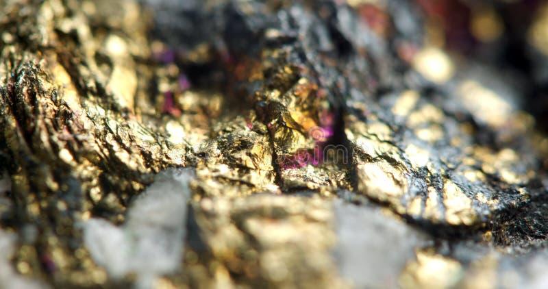 Fond d'or, macro photo plutôt unique une pépite rare, pour images stock