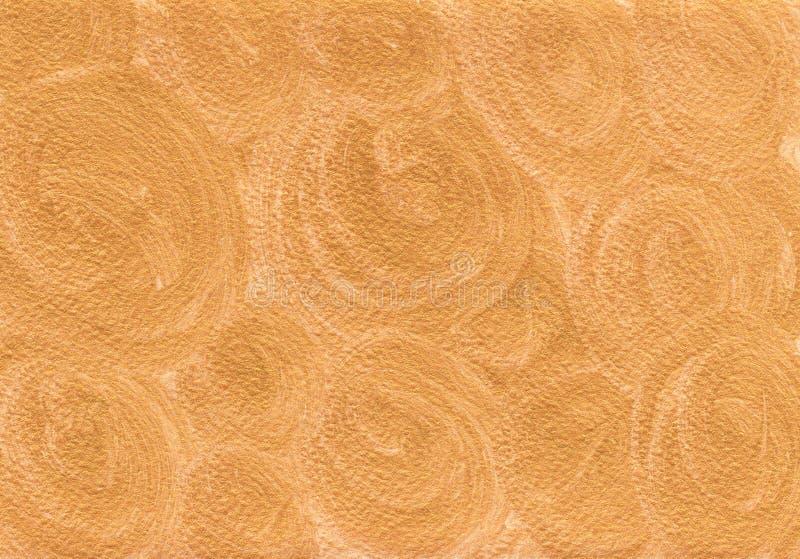 Fond d'or naturel avec la texture brillante lumineuse d'or illustration libre de droits