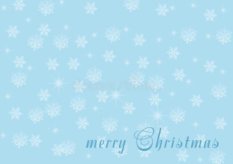 Fond d'an neuf ou de Noël Flocons de neige sur un backgroun bleu illustration stock