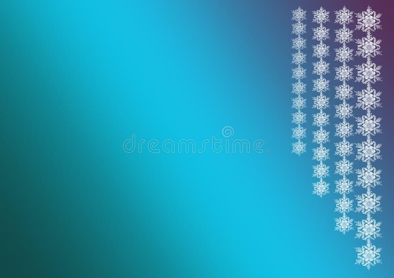Fond d'an neuf ou de Noël Guirlandes des flocons de neige sur un bl illustration stock