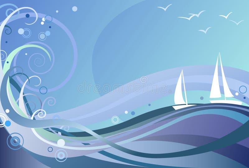 Fond d'océan illustration stock