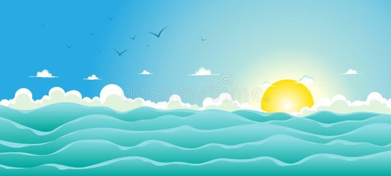 Fond d'océan d'été illustration de vecteur
