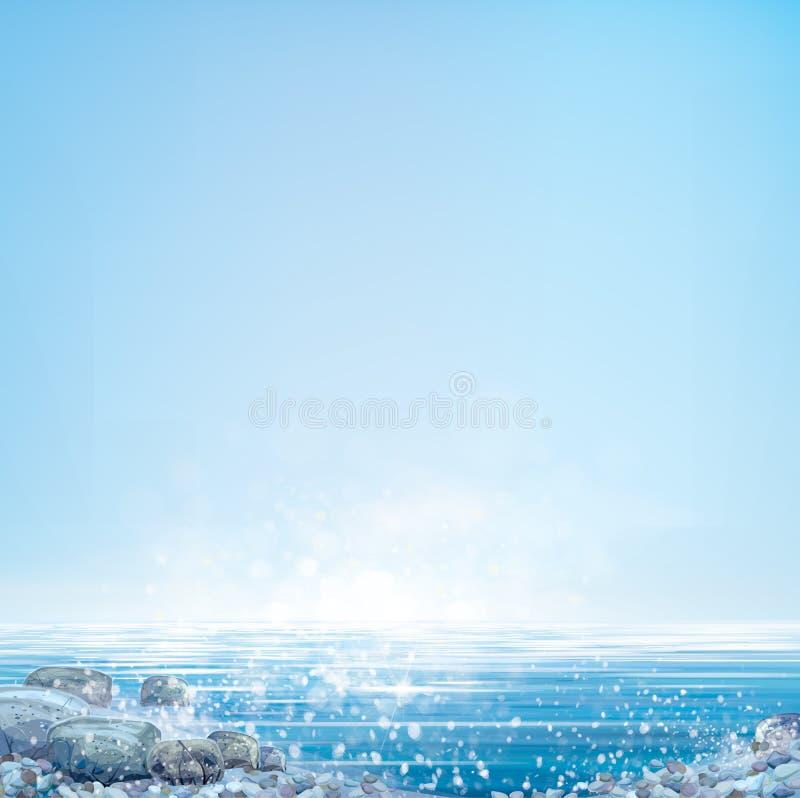 Fond d'océan de vecteur illustration stock