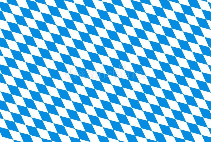 Fond d'Oktoberfest avec le losange qu'on peut répéter vérifié par bleu illustration de vecteur