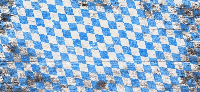 Fond d'Oktoberfest avec le modèle bleu et blanc de losange images libres de droits