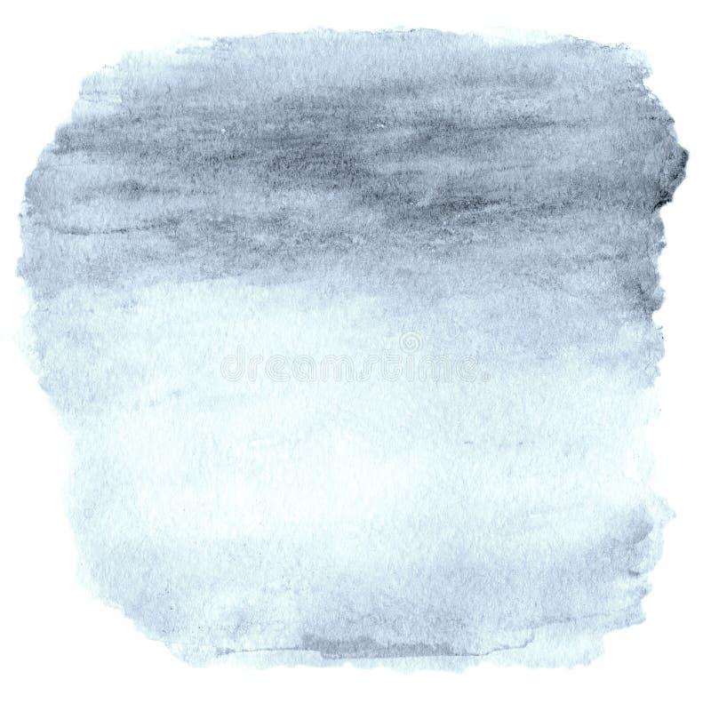 Fond d'Ombre d'aquarelle Cadre abstrait supérieur de lavage d'aquarelle photo libre de droits