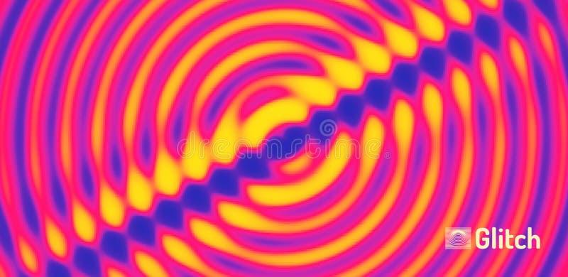 fond 3D onduleux avec l'effet d'ondulation illustration abstraite de vecteur Descripteur de conception illustration de vecteur