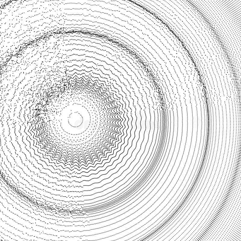 fond 3D onduleux avec l'effet d'ondulation Illustration de vecteur avec la particule surface de la grille 3D illustration de vecteur