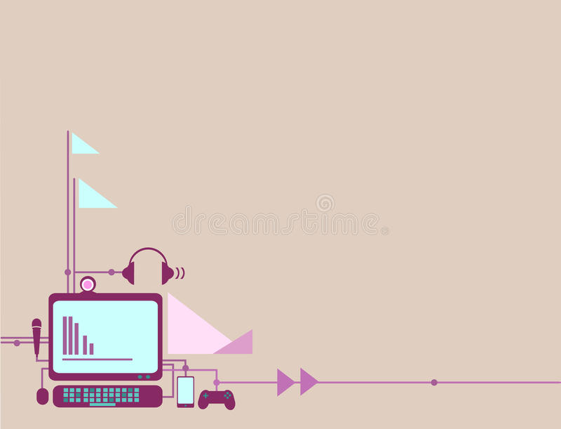 Fond d'ordinateur et d'instrument illustration stock