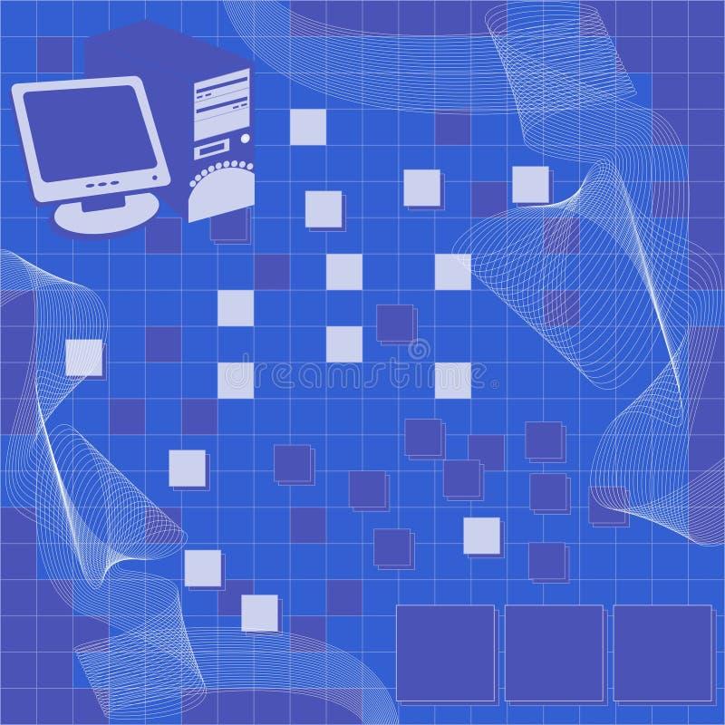 Fond d'ordinateur, vecteur illustration libre de droits