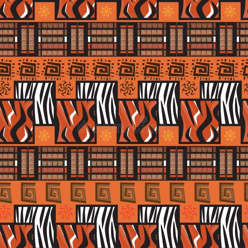 Fond d'ornement de montant de l'Afrique illustration libre de droits