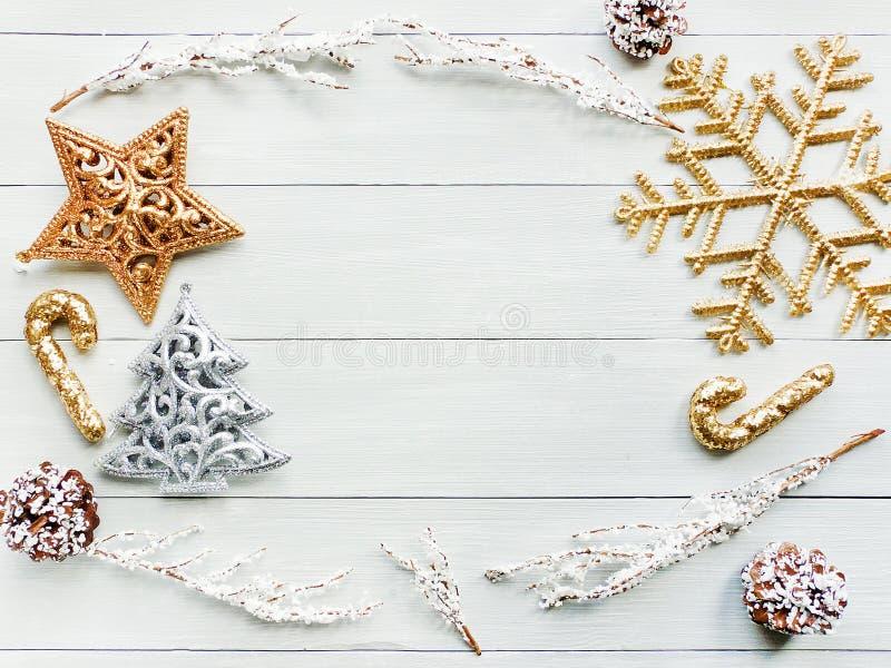 Fond d'ornsments de Noël photographie stock libre de droits