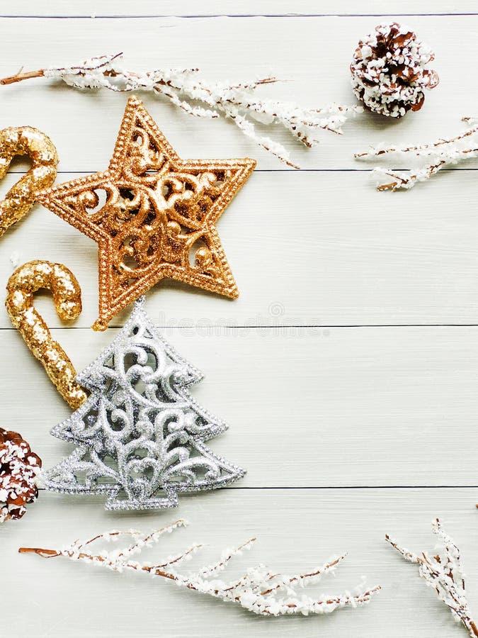 Fond d'ornsments de Noël image stock