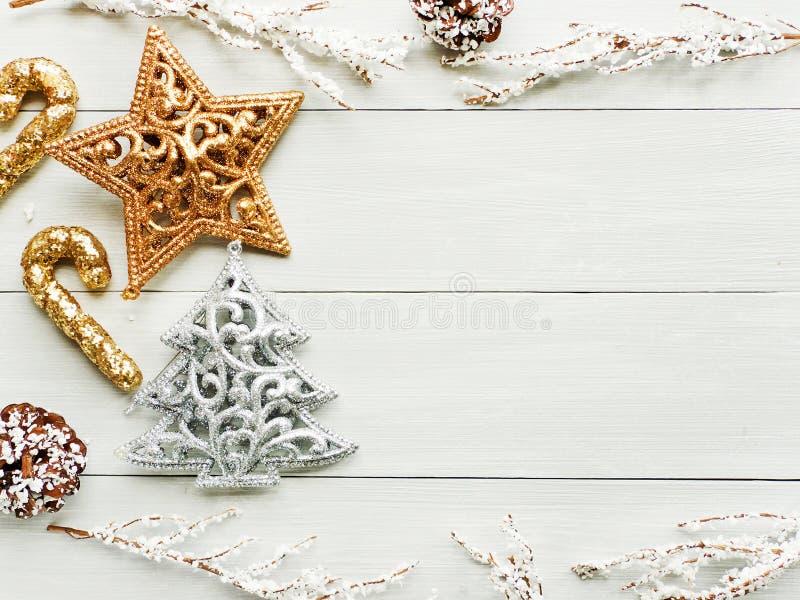 Fond d'ornsments de Noël images stock