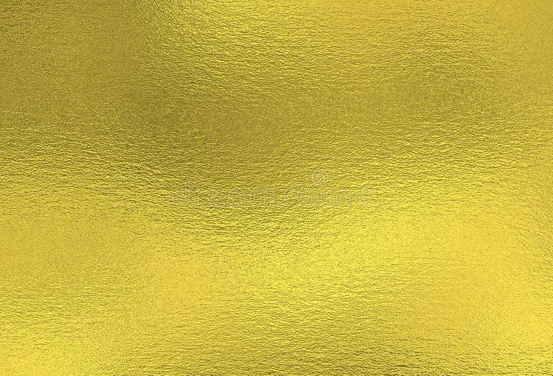 Fond d'or Texture décorative de feuille métallique photos libres de droits
