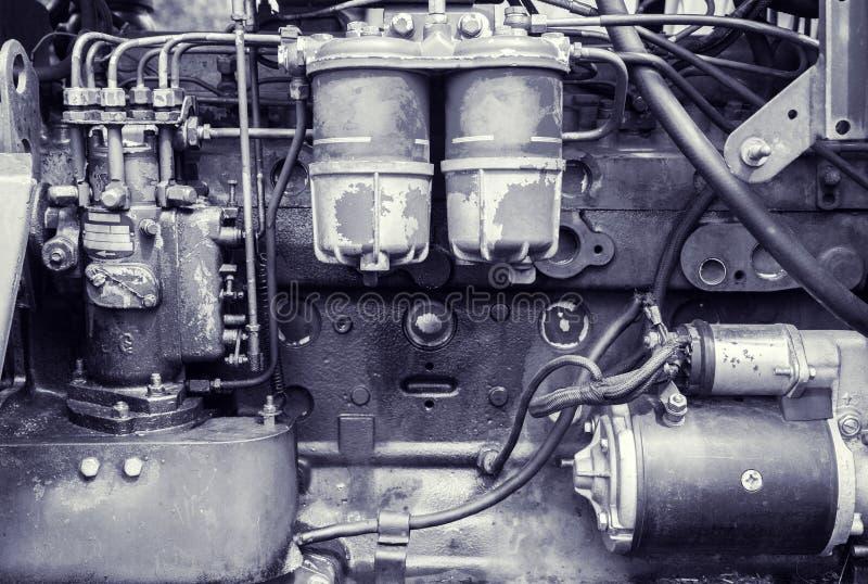 Fond d'un vieux moteur image stock